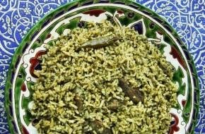 Zamarud pilau – smaragdinis plovas su špinatais