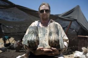 Izraelyje rasta sfinkso skulptūra