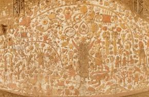 Žymiosios močės indėnų šventyklos freska