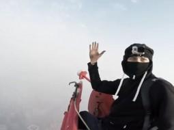 Rusų ruferiai užkopė į 650 m aukščio dangoraižį Šanchajuje