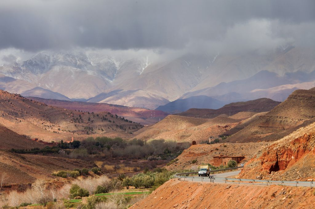 Cloudy day in Atlas Mountains, Morocco, Africa